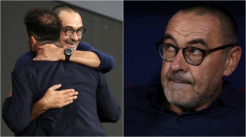 Sarri, quanta emozione: esordio in Champions sulla panchina della Juve