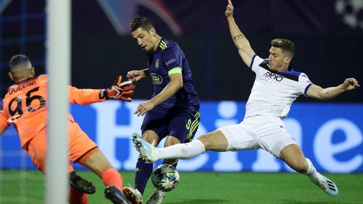 Champions League Dinamo Zagabria-Atalanta 4-0, il tabellino