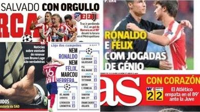 """""""Ronaldo e Felix, giocate geniali"""": Atletico-Juve vista dalla stampa estera"""
