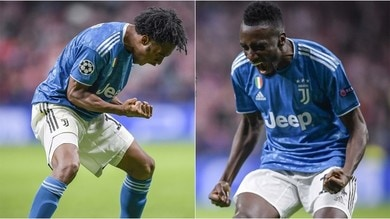 Juve: Cuadrado e Matuidi felici per il gol, meno per il 2-2 con l'Atletico