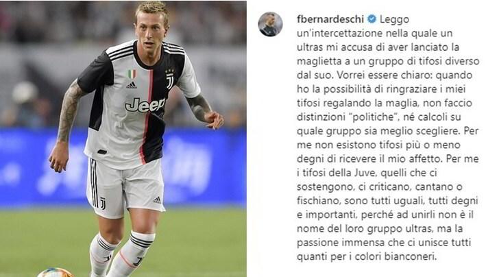 """Caso ultrà, Bernardeschi: """"Per me i tifosi della Juve sono tutti uguali"""""""