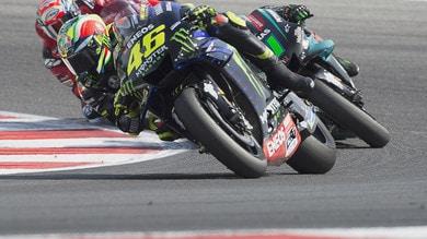 MotoGp, Aragon: Viñales e Rossi comandano le seconde libere