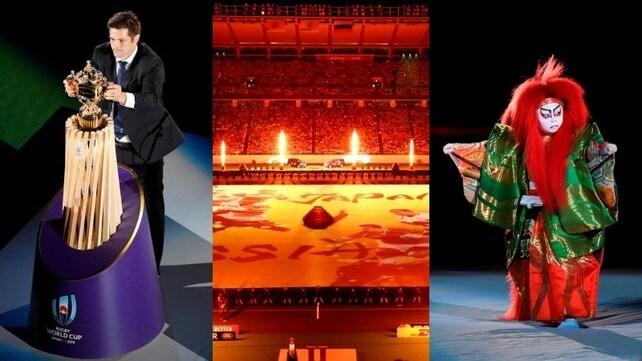 Mondiali di rugby, lo spettacolo della cerimonia d'apertura