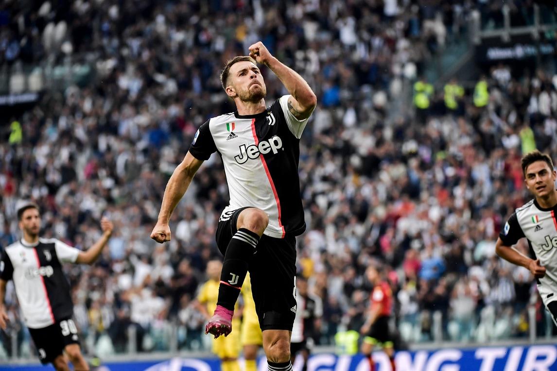 Juve-Verona 2-1: Ramsey subito in gol all'esordio in Serie A