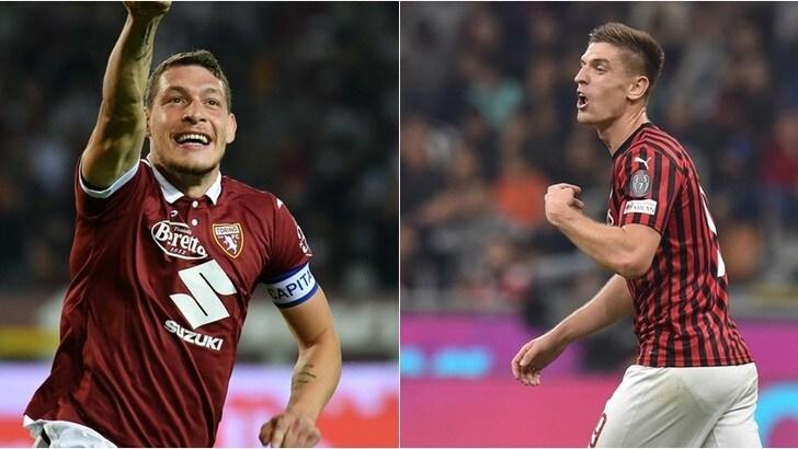Diretta Torino-Milan ore 21: come vederla in tv e formazioni ufficiali