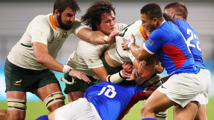 Mondiali rugby: primi punti per il Sudafrica, Namibia travolta 57-3
