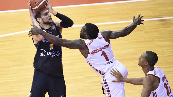 Serie A basket: Trento si impone a Reggio Emilia
