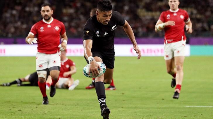 Mondiali di rugby, Nuova Zelanda a valanga sul Canada: 63-0