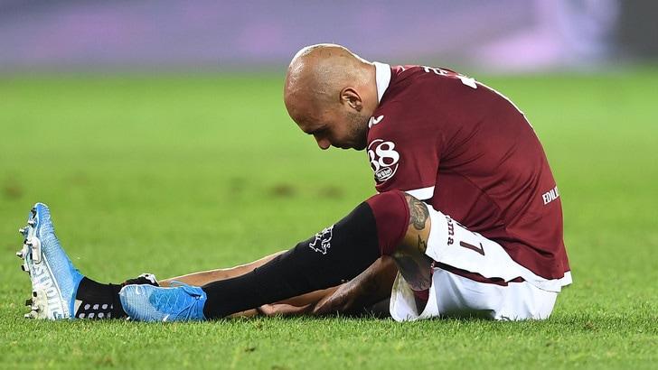 Torino, Zaza interrompe l'allenamento per affaticamento al polpaccio