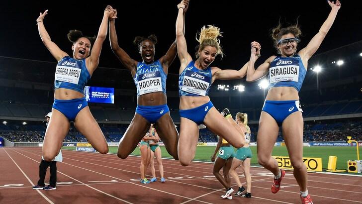 Le azzurre in finale della 4x100 con nuovo record italiano