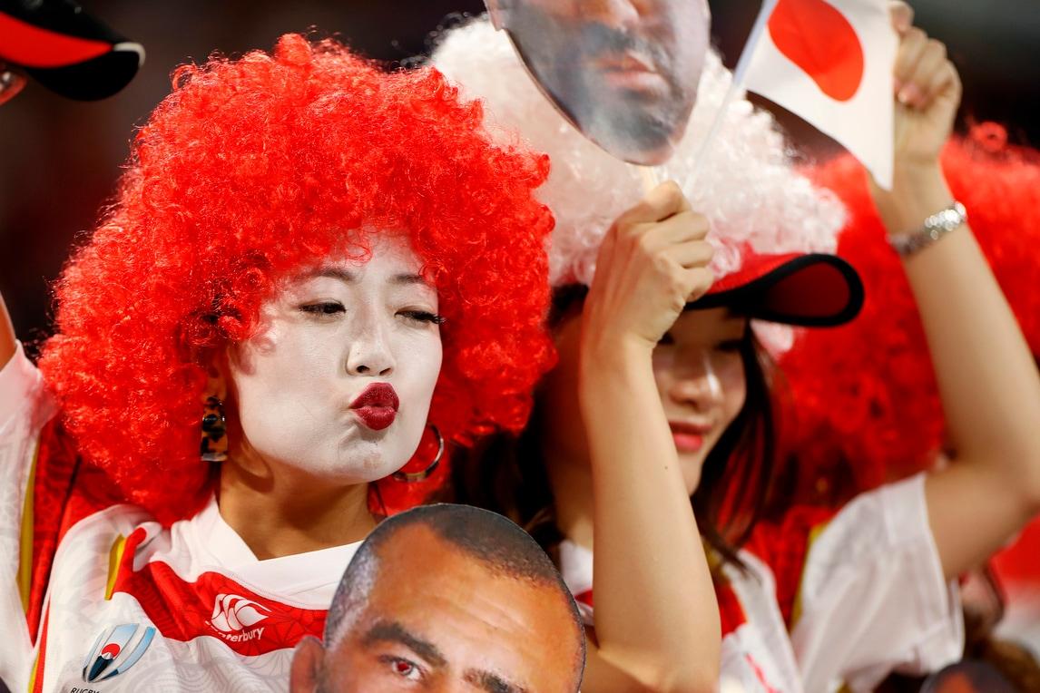 Mondiali rugby, lo show è anche sugli spalti