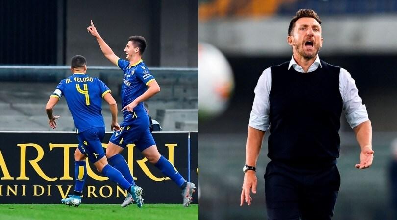 Verona-Sampdoria 2-0, la gioia di Kumbulla e il dramma di Di Francesco