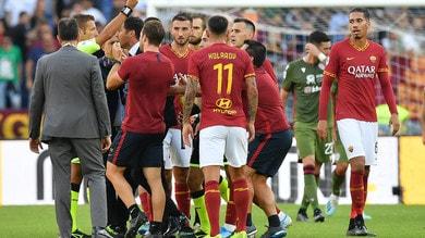 Roma-Cagliari 1-1, Diawara infortunato. Nel finale espulso Fonseca
