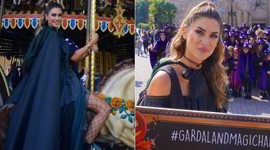 Melissa Satta madrina a Gardaland: sexy strega per Halloween!