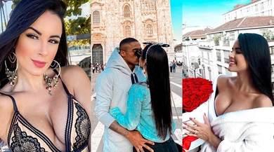 Douglas Costa e Nathália, bacio davanti al Duomo prima del rientro