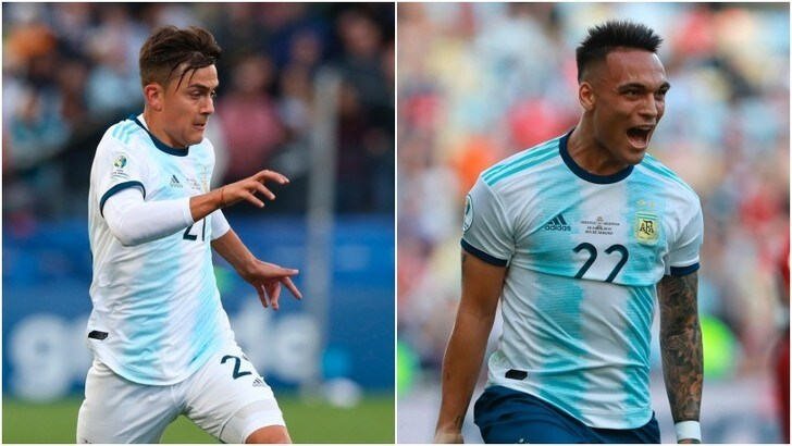 Dybala-Lautaro, da avversari a coppia d'attacco dell'Argentina