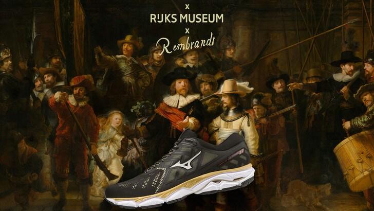 Mizuno veste la Wave Ultima 11 Amsterdam con il capolavoro di Rembrandt