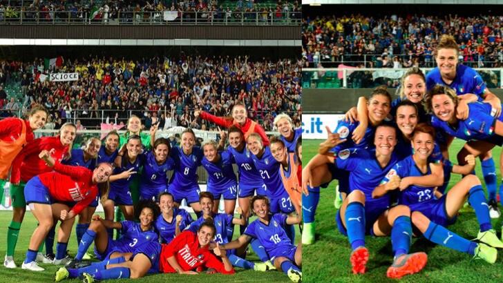 Italia donne, 2-0 alla Bosnia e festa in campo al Barbera