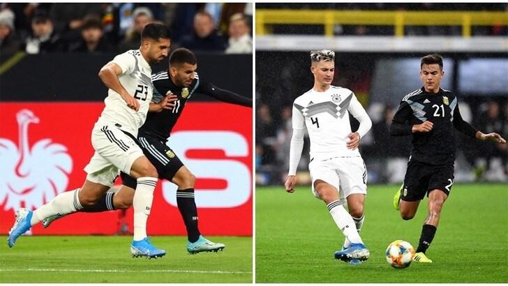 Germania-Argentina 2-2: brilla Emre Can, Dybala fatica