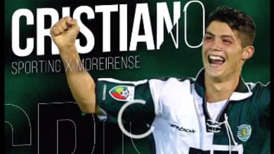 Cristiano Ronaldo: eccolo a 17 anni, primi gol nello Sporting. Ora caccia ai 700