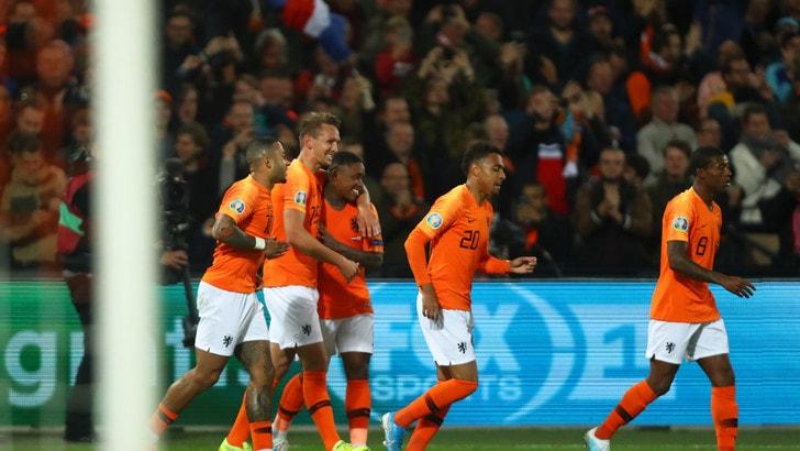 Vince l'Olanda di De Ligt, il Belgio ne fa 9 a San Marino. Bene Polonia e Croazia