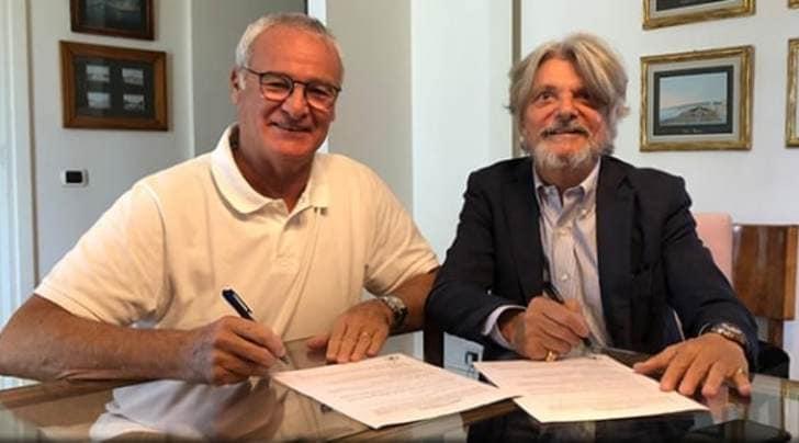 Ufficiale, Ranieri alla Sampdoria. Esordio contro la Roma