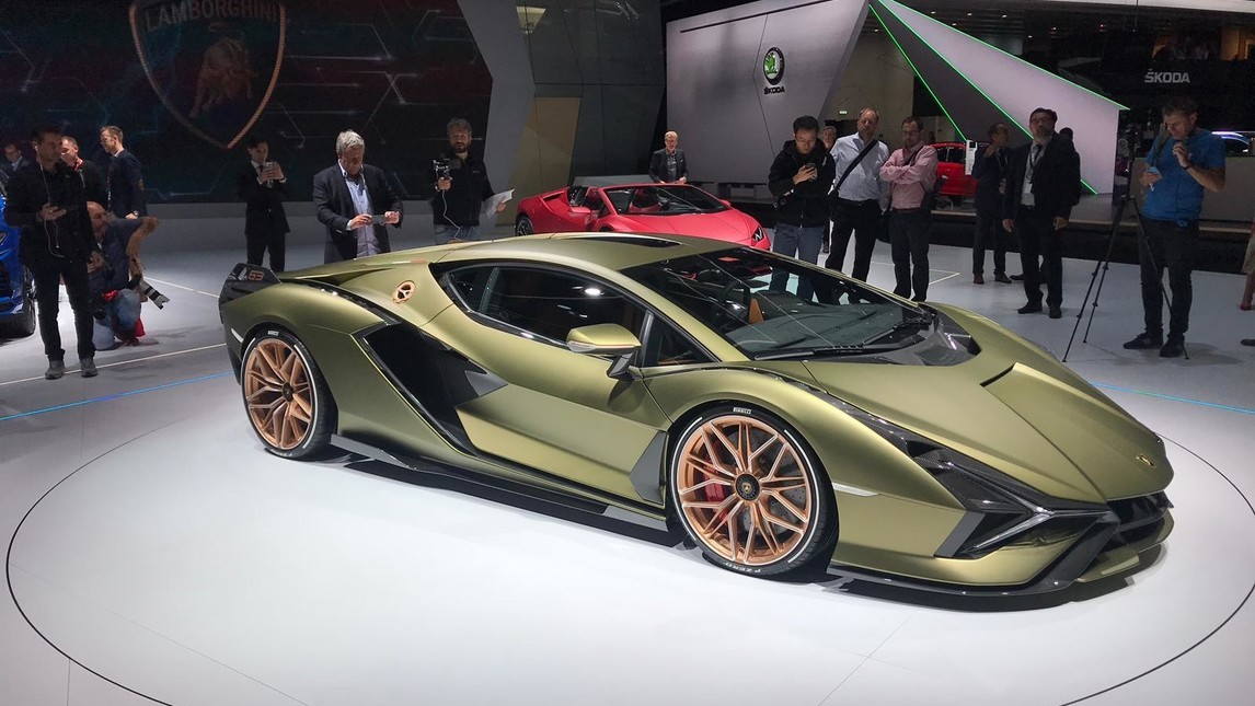Lamborghini Sian al Salone di Francoforte, le immagini