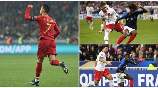 """Cristiano Ronaldo fa 700! 1-1 il """"derby"""" Matuidi-Demiral"""