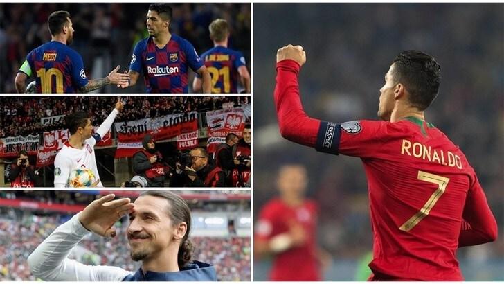 Cristiano Ronaldo mette in riga Messi, Ibrahimovic, Suarez e Lewandowski