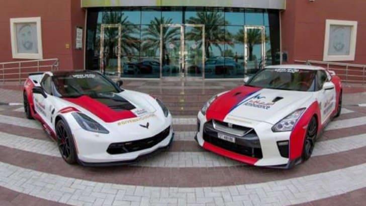 Nissan GT-R e Corvette C7 utilizzate come auto mediche a Dubai