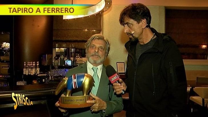Samp, Ferrero riceve il Tapiro d'oro e lo dedica a Vialli