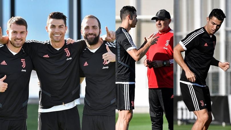 La Juve si allena: riecco Ronaldo