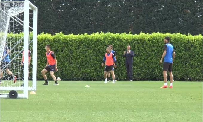 La Lazio verso la sfida con l'Atalanta