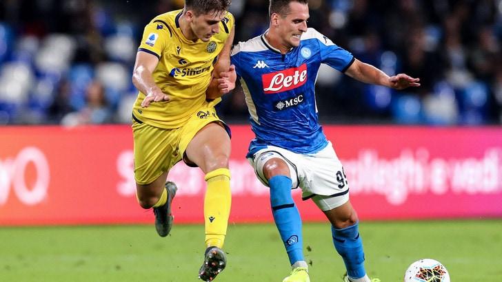 Napoli-Verona 2-0, il tabellino