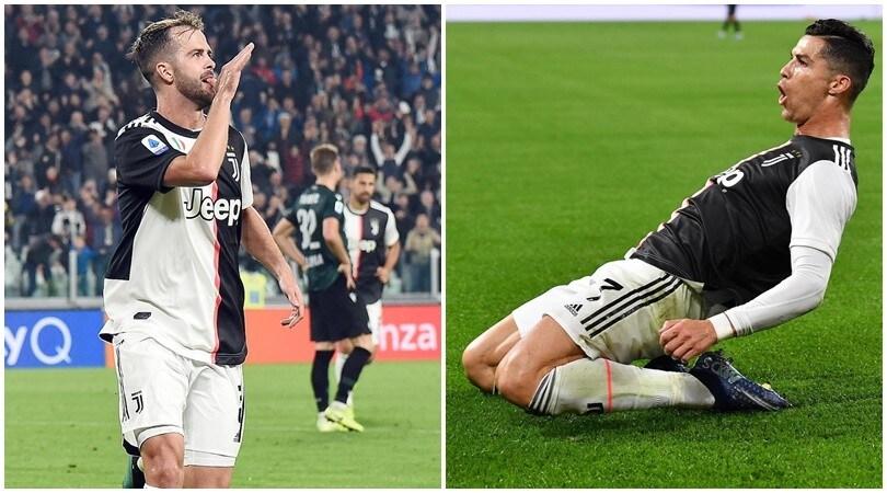 La Juve tenta la fuga: Cristiano Ronaldo-Pjanic, Bologna ko