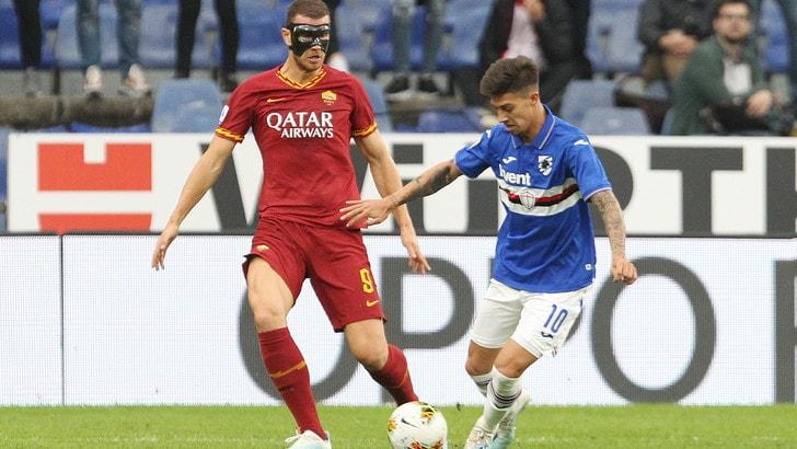 Sampdoria-Roma 0-0, il tabellino