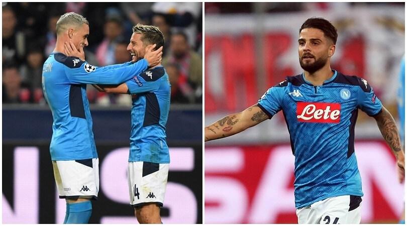 Champions, Mertens e Insigne fanno sognare il Napoli