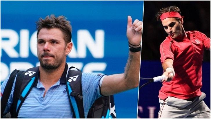 Basilea: Wawrinka dà forfait, in semifinale ci va Federer
