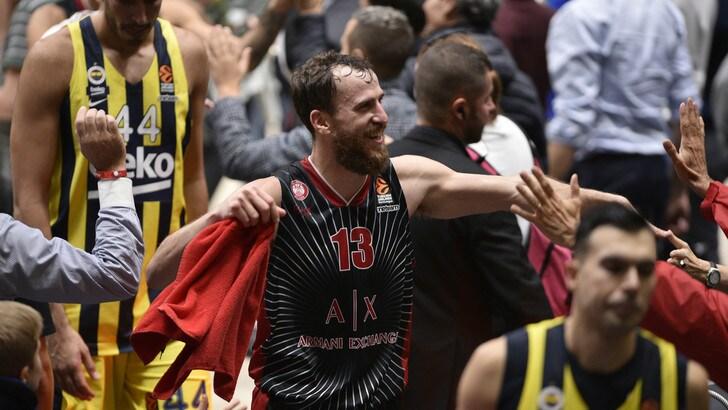 L'Olimpia Milano vola in Eurolega: ko il Fenerbahçe di Datome