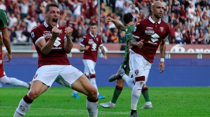 Torino-Cagliari 1-1: Zaza risponde a Nandez
