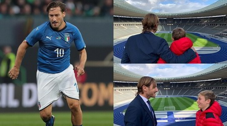 Totti torna all'Olympiastadion: ricordo mondiale