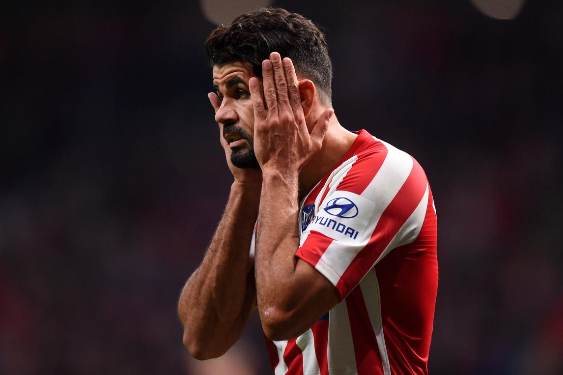 Tegola Diego Costa per l'Atletico Madrid: fuori fino ad aprile