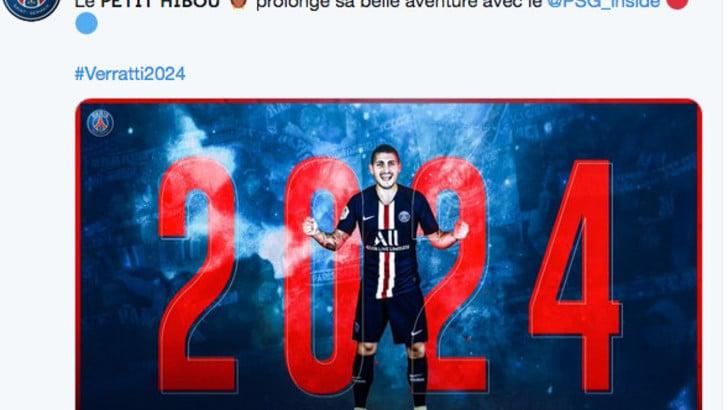 Verratti allunga con il Psg fino al 2024: francese a vita, niente Juve