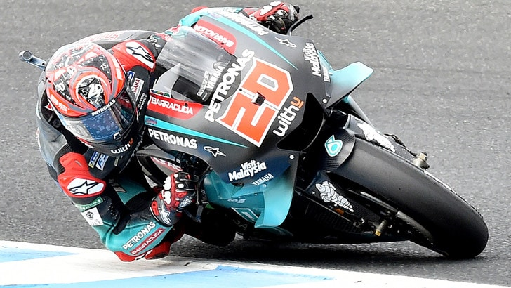MotoGp Malesia: Quartararo vola nelle libere, Rossi terzo