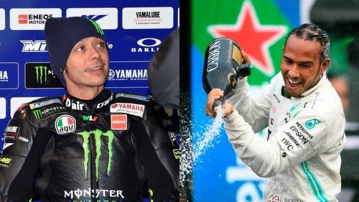 Rossi sulla Mercedes e Hamilton sulla Yamaha: ecco la data