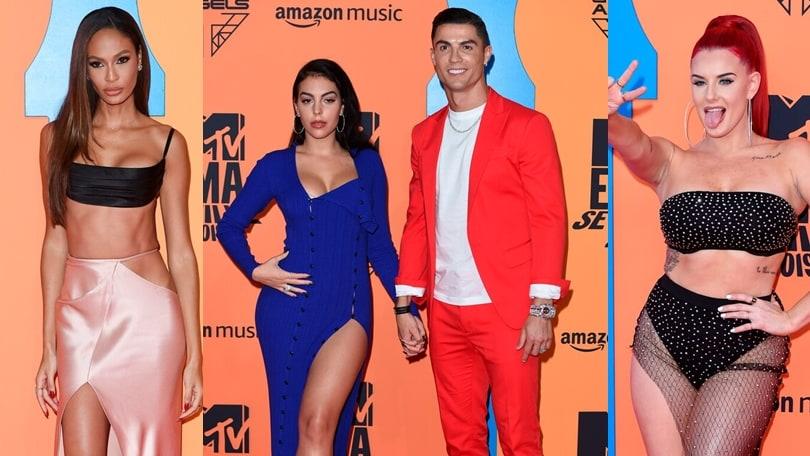 Ronaldo e Georgina show sul red carpet degli MTV Awards