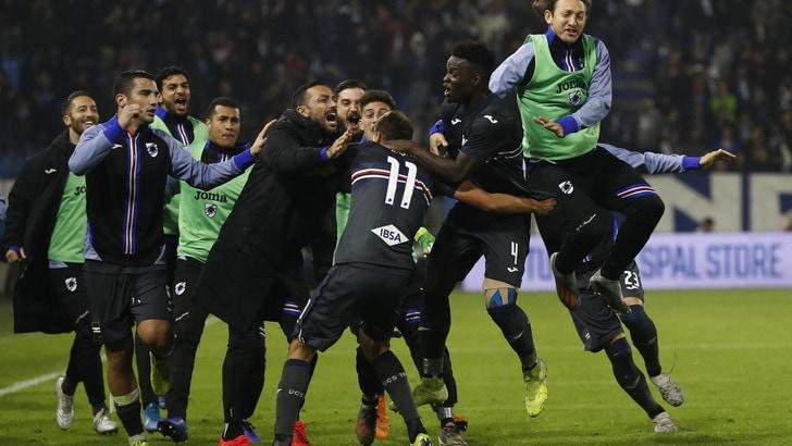 Spal ko nel recupero: 1-0 per la Sampdoria che lascia l'ultimo posto