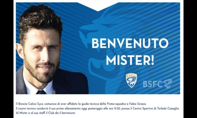 Ufficiale: Grosso nuovo tecnico del Brescia