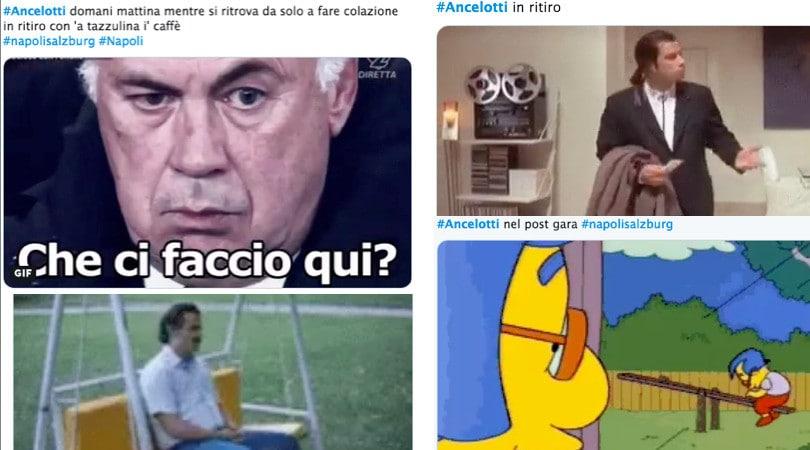 Napoli, tifosi scatenati su Ancelotti da solo in ritiro