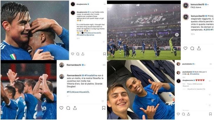 La Juve batte la Lokomotiv e vola agli ottavi: le reazioni social dei bianconeri